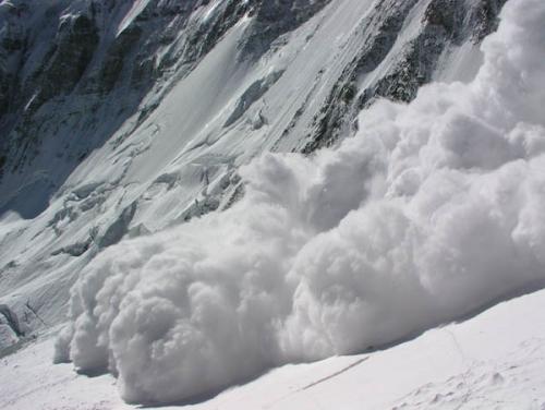 Store snøskred er en realitet i Himalaya. Dette skredet kom etter vi akkurat hadde krysset området en halvtime tidligere.