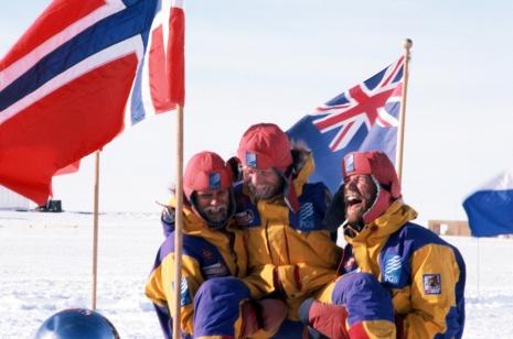 Lars Ebbesen, Odd Harald Hauge og Cato Zahl Pedersen brukte 53 dager fra Berkner Island til Sydpolen i 1994/1995